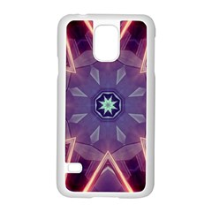 Abstract Glow Kaleidoscopic Light Samsung Galaxy S5 Case (white) by BangZart