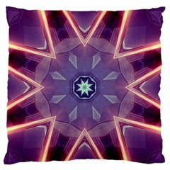 Abstract Glow Kaleidoscopic Light Large Flano Cushion Case (one Side) by BangZart