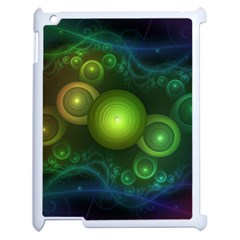 Retrotacular Rainbow Dots In A Fractal Microscope Apple Ipad 2 Case (white) by beautifulfractals