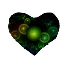 Retrotacular Rainbow Dots In A Fractal Microscope Standard 16  Premium Flano Heart Shape Cushions by beautifulfractals