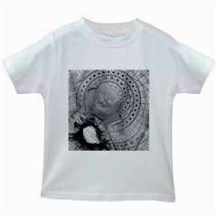 Fragmented Fractal Memories And Gunpowder Glass Kids White T Shirts by beautifulfractals