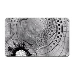 Fragmented Fractal Memories And Gunpowder Glass Magnet (rectangular) by beautifulfractals