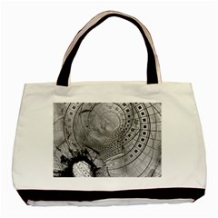 Fragmented Fractal Memories And Gunpowder Glass Basic Tote Bag by beautifulfractals