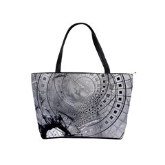 Fragmented Fractal Memories And Gunpowder Glass Shoulder Handbags by beautifulfractals