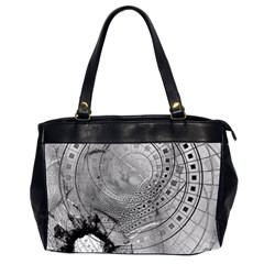 Fragmented Fractal Memories And Gunpowder Glass Office Handbags (2 Sides)  by beautifulfractals