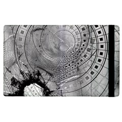 Fragmented Fractal Memories And Gunpowder Glass Apple Ipad 3/4 Flip Case by beautifulfractals