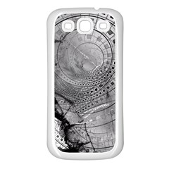 Fragmented Fractal Memories And Gunpowder Glass Samsung Galaxy S3 Back Case (white) by jayaprime