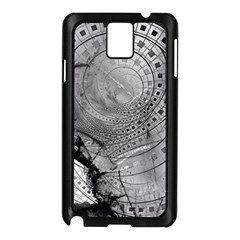 Fragmented Fractal Memories And Gunpowder Glass Samsung Galaxy Note 3 N9005 Case (black) by jayaprime