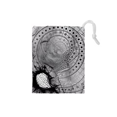 Fragmented Fractal Memories And Gunpowder Glass Drawstring Pouches (small)  by beautifulfractals