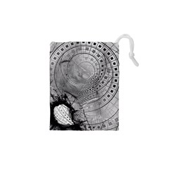 Fragmented Fractal Memories And Gunpowder Glass Drawstring Pouches (xs)  by beautifulfractals