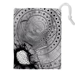Fragmented Fractal Memories And Gunpowder Glass Drawstring Pouches (xxl) by beautifulfractals