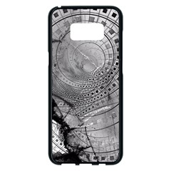 Fragmented Fractal Memories And Gunpowder Glass Samsung Galaxy S8 Plus Black Seamless Case by jayaprime