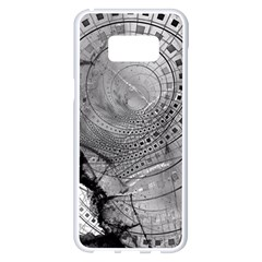 Fragmented Fractal Memories And Gunpowder Glass Samsung Galaxy S8 Plus White Seamless Case by jayaprime