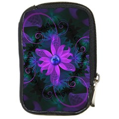 Beautiful Ultraviolet Lilac Orchid Fractal Flowers Compact Camera Cases by jayaprime