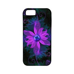 Beautiful Ultraviolet Lilac Orchid Fractal Flowers Apple Iphone 5 Classic Hardshell Case (pc+silicone) by jayaprime