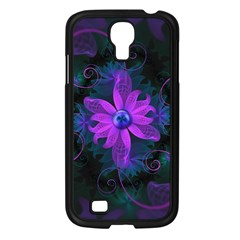 Beautiful Ultraviolet Lilac Orchid Fractal Flowers Samsung Galaxy S4 I9500/ I9505 Case (black) by beautifulfractals