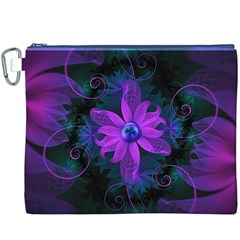 Beautiful Ultraviolet Lilac Orchid Fractal Flowers Canvas Cosmetic Bag (xxxl) by beautifulfractals