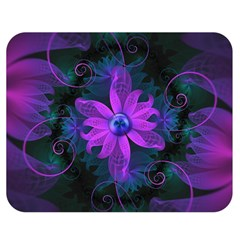 Beautiful Ultraviolet Lilac Orchid Fractal Flowers Double Sided Flano Blanket (medium)  by beautifulfractals