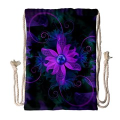 Beautiful Ultraviolet Lilac Orchid Fractal Flowers Drawstring Bag (large) by beautifulfractals