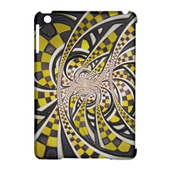 Liquid Taxi Cab, A Yellow Checkered Retro Fractal Apple Ipad Mini Hardshell Case (compatible With Smart Cover) by beautifulfractals