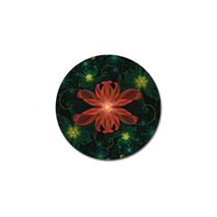 Beautiful Red Passion Flower In A Fractal Jungle Golf Ball Marker (10 Pack) by beautifulfractals
