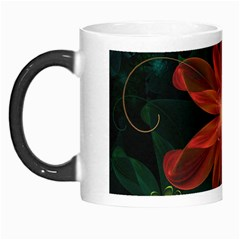 Beautiful Red Passion Flower In A Fractal Jungle Morph Mugs by beautifulfractals