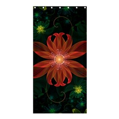 Beautiful Red Passion Flower In A Fractal Jungle Shower Curtain 36  X 72  (stall)  by beautifulfractals