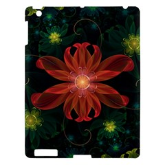 Beautiful Red Passion Flower In A Fractal Jungle Apple Ipad 3/4 Hardshell Case by beautifulfractals