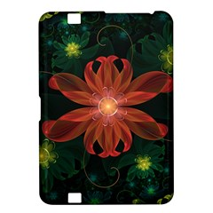 Beautiful Red Passion Flower In A Fractal Jungle Kindle Fire Hd 8 9  by beautifulfractals