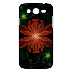 Beautiful Red Passion Flower In A Fractal Jungle Samsung Galaxy Mega 5 8 I9152 Hardshell Case  by beautifulfractals