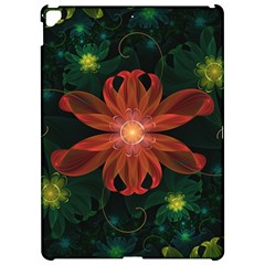 Beautiful Red Passion Flower In A Fractal Jungle Apple Ipad Pro 12 9   Hardshell Case by beautifulfractals