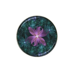 Pink And Turquoise Wedding Cremon Fractal Flowers Hat Clip Ball Marker (10 Pack) by beautifulfractals