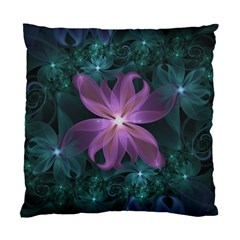 Pink And Turquoise Wedding Cremon Fractal Flowers Standard Cushion Case (one Side) by beautifulfractals