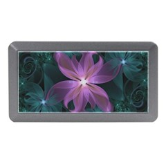 Pink And Turquoise Wedding Cremon Fractal Flowers Memory Card Reader (mini) by beautifulfractals