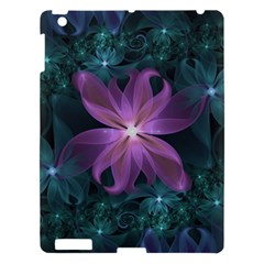 Pink And Turquoise Wedding Cremon Fractal Flowers Apple Ipad 3/4 Hardshell Case by beautifulfractals