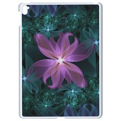 Pink And Turquoise Wedding Cremon Fractal Flowers Apple Ipad Pro 9 7   White Seamless Case by beautifulfractals