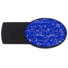 Glossy Abstract Blue Usb Flash Drive Oval (4 Gb) by MoreColorsinLife