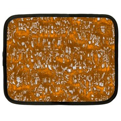 Glossy Abstract Orange Netbook Case (xxl)  by MoreColorsinLife