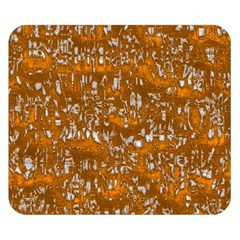 Glossy Abstract Orange Double Sided Flano Blanket (Small)