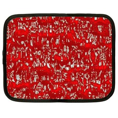 Glossy Abstract Red Netbook Case (large) by MoreColorsinLife