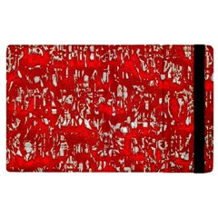 Glossy Abstract Red Apple Ipad Pro 12 9   Flip Case