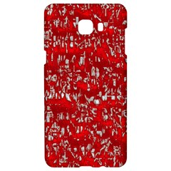 Glossy Abstract Red Samsung C9 Pro Hardshell Case