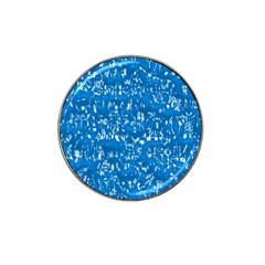 Glossy Abstract Teal Hat Clip Ball Marker (4 Pack) by MoreColorsinLife