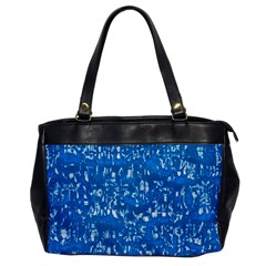 Glossy Abstract Teal Office Handbags by MoreColorsinLife