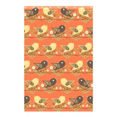 Birds Pattern Shower Curtain 48  X 72  (small)  by linceazul