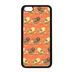 Birds Pattern Apple Iphone 5c Seamless Case (black) by linceazul