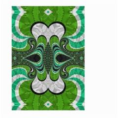 Fractal Art Green Pattern Design Large Garden Flag (two Sides) by BangZart