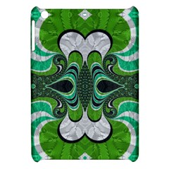 Fractal Art Green Pattern Design Apple Ipad Mini Hardshell Case by BangZart