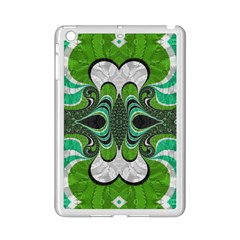 Fractal Art Green Pattern Design Ipad Mini 2 Enamel Coated Cases by BangZart