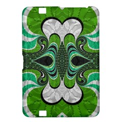 Fractal Art Green Pattern Design Kindle Fire Hd 8 9  by BangZart